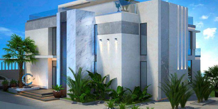 Облицовка фасада дома керамогранитом Мираж (Mirage), Италия